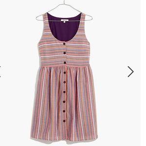 Madewell Scoopneck Rainbow Stripe Dress - NWOT